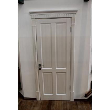 Межкомнатная дверь М15, глухая, цвет белая эмаль