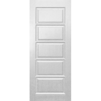 Межкомнатная дверь Лесенка М9, глухая, цвет Белый, массив сосны
