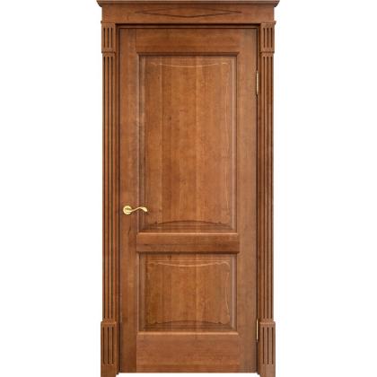 Межкомнатная дверь ОЛ. 6, глухая - цвет 10% орех - массив ольхи