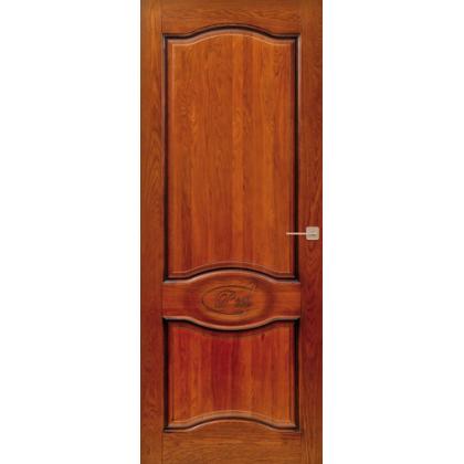 Межкомнатная дверь Д3, глухая - цвет 15% орех - массив дуба