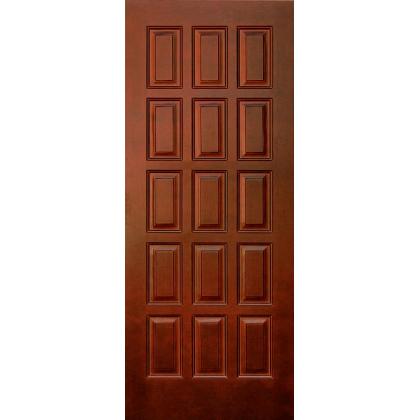 Межкомнатная дверь Шоколадка М6, глухая, цвет 15% орех, массив сосны
