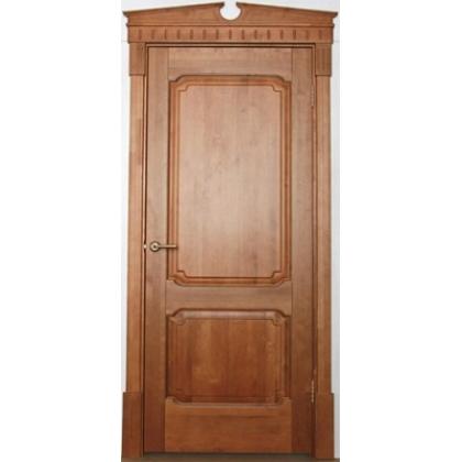 Межкомнатная дверь ОЛ. 7, глухая - цвет 10% орех - массив ольхи