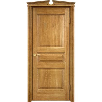 Межкомнатная дверь Д5, глухая - цвет 5% орех - массив дуба