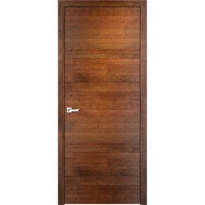 Межкомнатная дверь ОЛ. 66, глухая - цвет Коньяк горизонтальный - массив ольхи