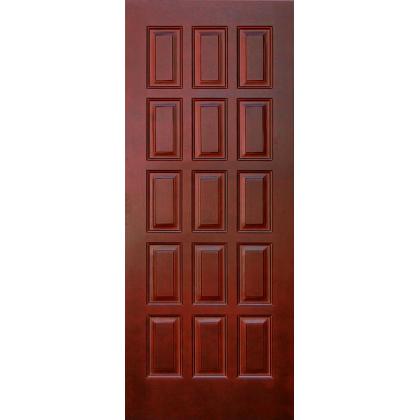 Межкомнатная дверь Шоколадка М6, глухая, цвет Мак, массив сосны