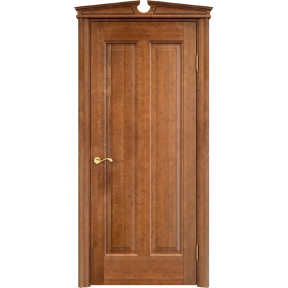 Межкомнатная дверь ОЛ. 102, глухая - цвет 10% орех - массив ольхи