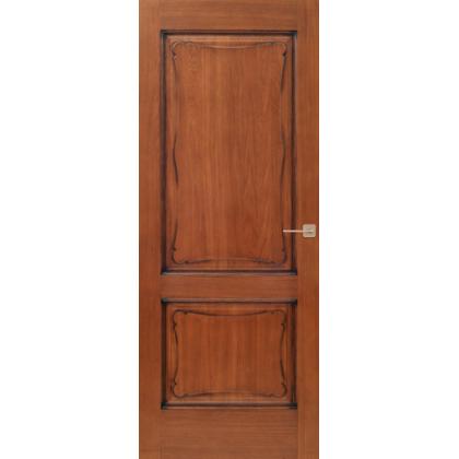 Межкомнатная дверь Д6, глухая - цвет 15% орех - массив дуба
