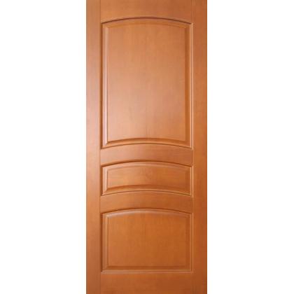 Межкомнатная дверь Вероника М16, глухая, цвет 10% орех, массив сосны - с сучками