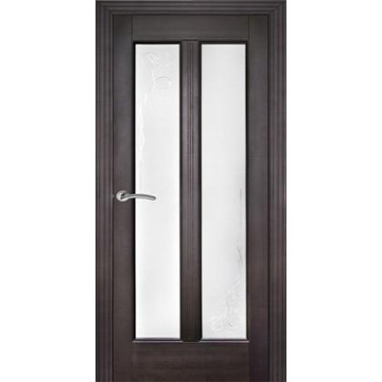Межкомнатная дверь ОЛ. 2, с остеклением - цвет Венге - массив ольхи