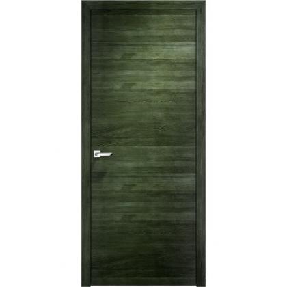 Межкомнатная дверь Д66, глухая - цвет Малахит горизонтальный - массив дуба