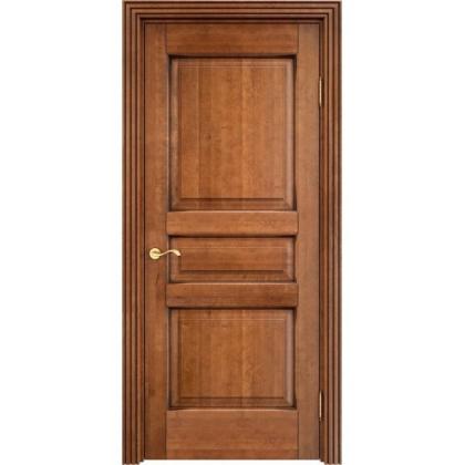 Межкомнатная дверь ОЛ. 5, глухая - цвет 5% орех с патиной - массив ольхи