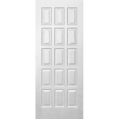 Межкомнатная дверь Шоколадка М6, глухая, цвет Белый, массив сосны