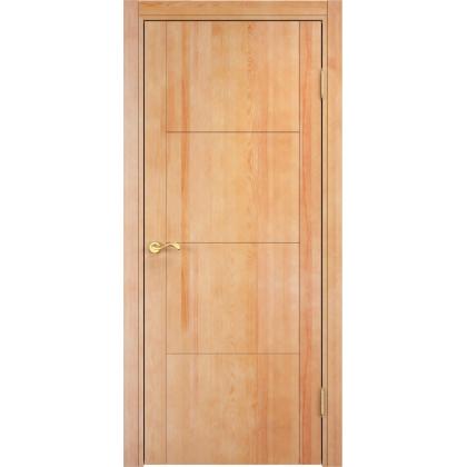 Межкомнатная дверь ОЛ. 77, глухая - цвет 5% орех - массив ольхи