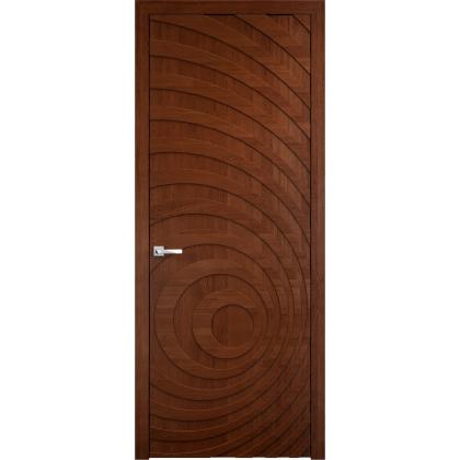 Межкомнатная дверь Cyclon, глухая - цвет 15% орех - массив дуба