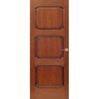 Межкомнатная дверь Д7/3, глухая - цвет 15% орех - массив дуба