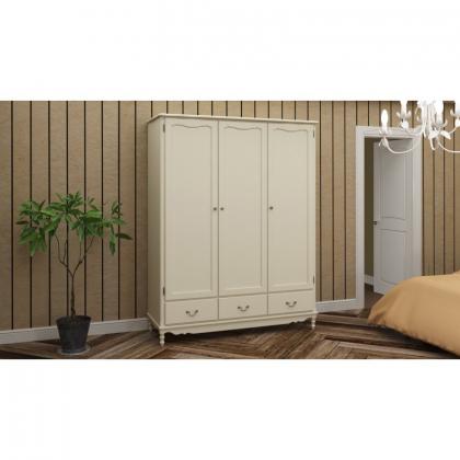 Шкаф 3-х дверный Верден с глухими дверями белый воск