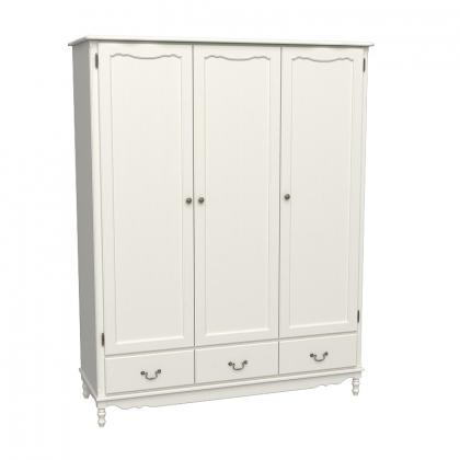 Шкаф 3-х дверный Верден с глухими дверями слоновая кость