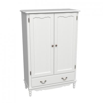 Шкаф Верден бельевой 2-х дверный белый воск