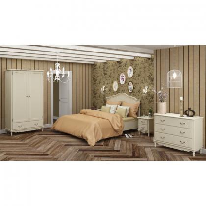 Кровать Верден 160х200 белый воск