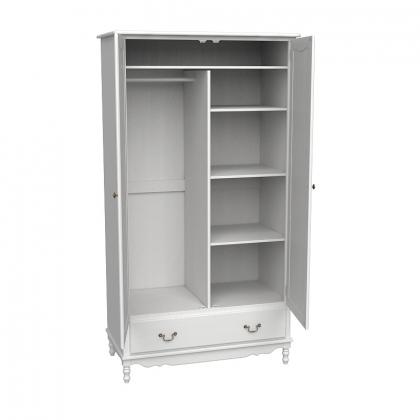 Шкаф 2-х дверный Верден белый воск
